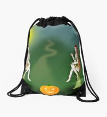 Pumpkin Women. Drawstring Bag