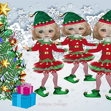 3 little elves / Christmas wreath with bows {309 Views} by aldona
