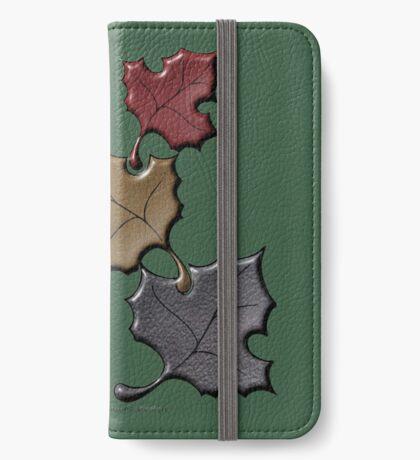 Xmas Cookies & Sweets/ 3 autumn Leaves (20997u Views) iPhone Wallet