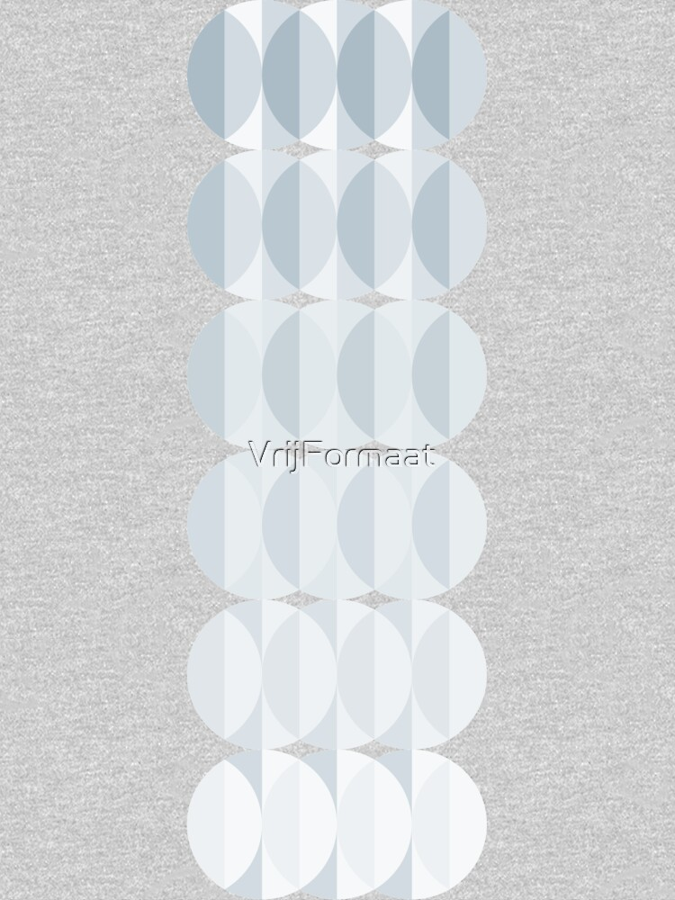 leaves in the mist - a pattern in ice gray by VrijFormaat
