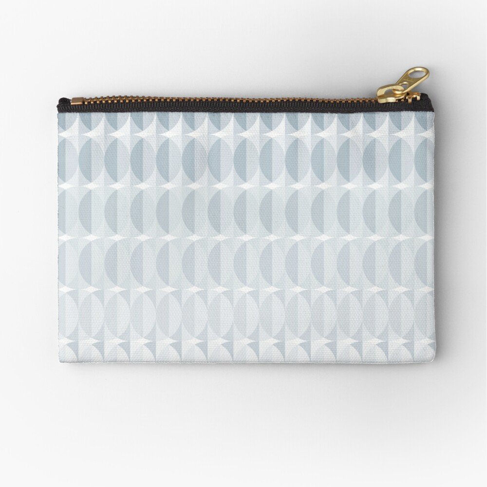 leaves in the mist - a pattern in ice gray Zipper Pouch