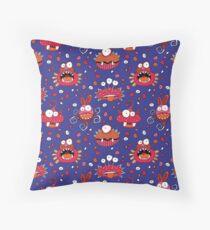 Monster Mash Purple Throw Pillow