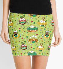 Monster Mash Green Mini Skirt