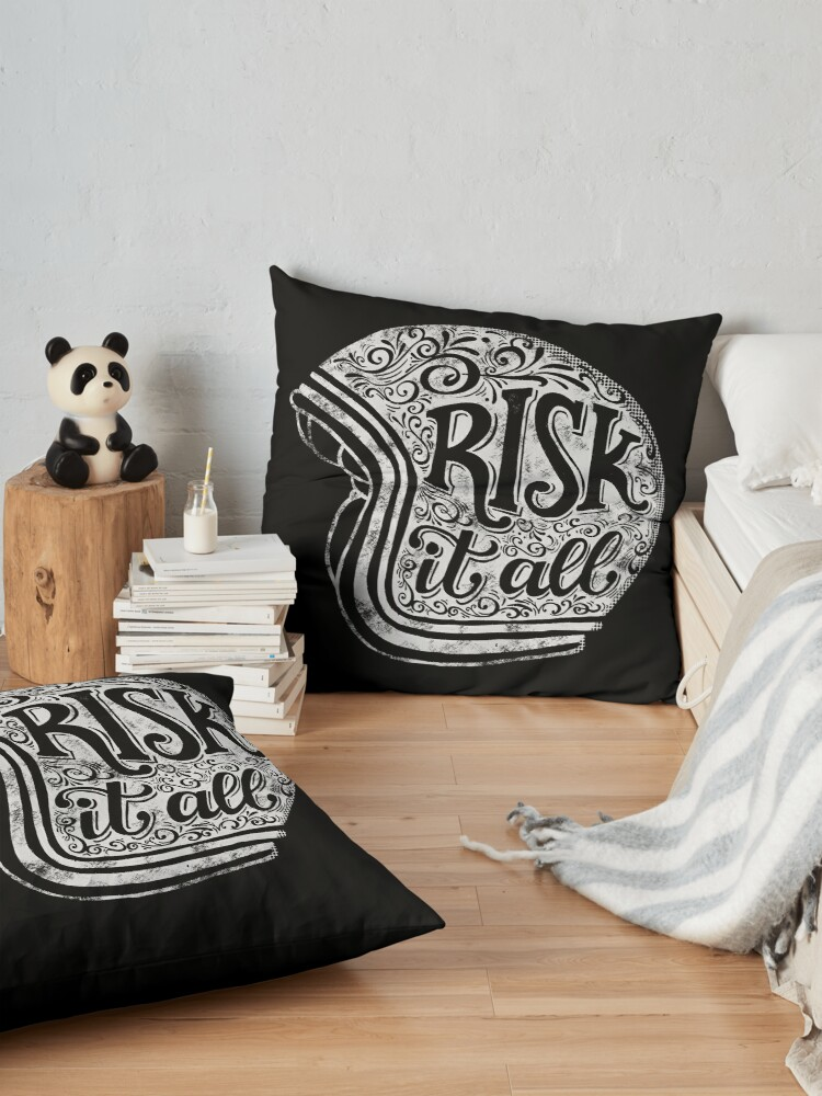 Alternate view of Risk It All Floor Pillow