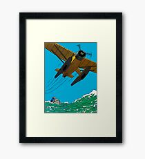 Tintin Airplane Print Framed Print