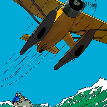 Tintin Airplane Print by GongAuGung