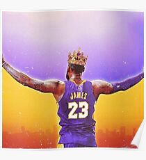 Lebron James L.A King Poster