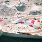 Sand Covered Flip Flops by Jennifer  Burgess