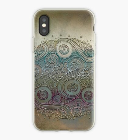 Mobile skin case mandala diff iPhone Case