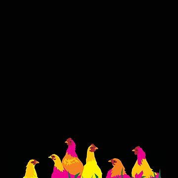 Neon Chooks Chickens by aartytees