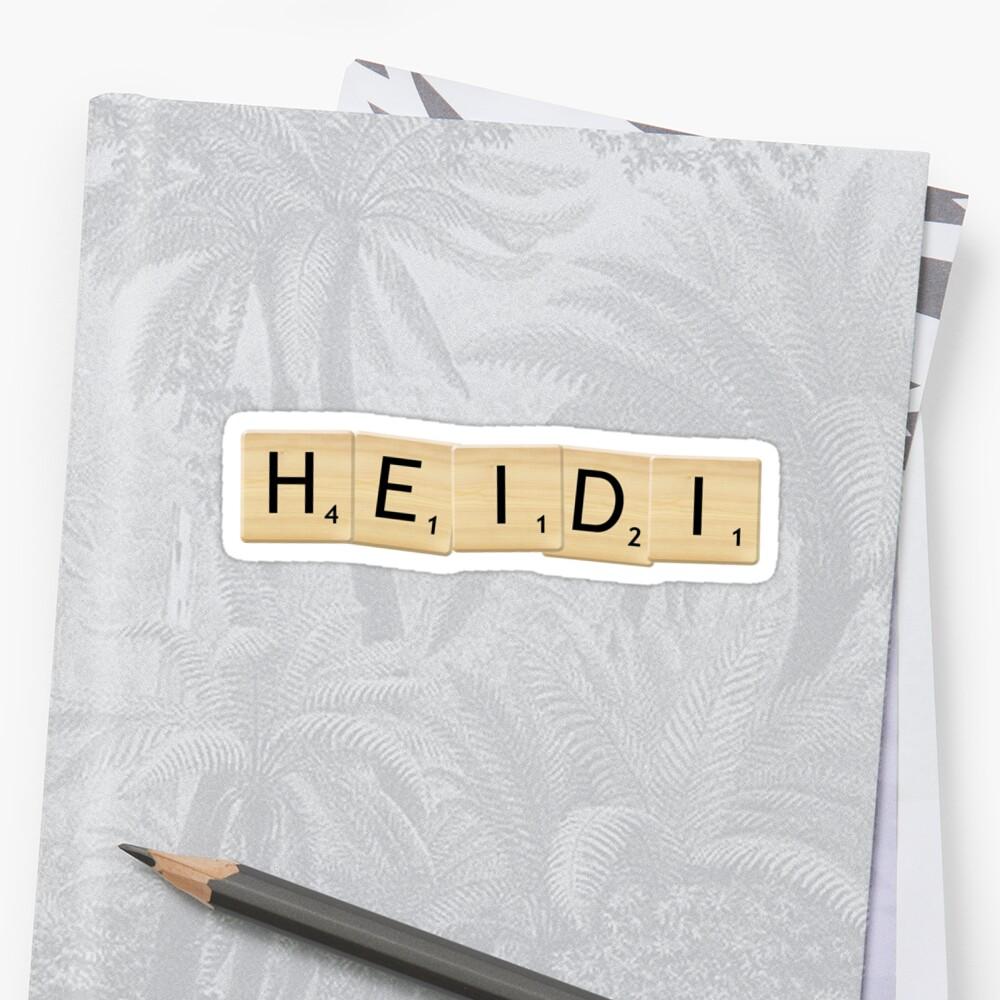 Heidi Sticker Front
