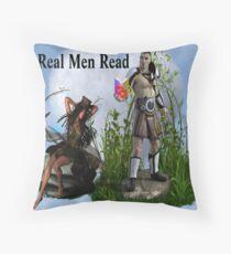 Real Men Read Throw Pillow