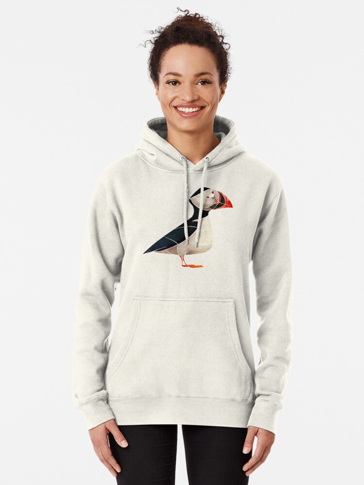 Alternate view of Puffin  Pullover Hoodie