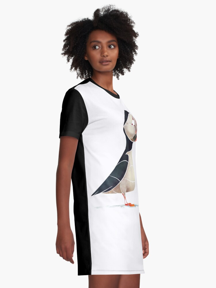 Alternate view of Puffin  Graphic T-Shirt Dress