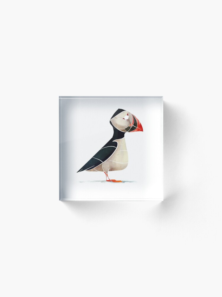 Alternate view of Puffin  Acrylic Block