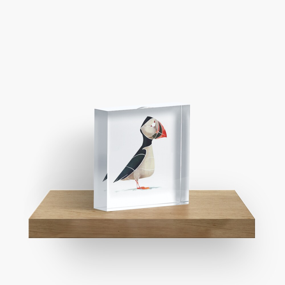 Puffin  Acrylic Block
