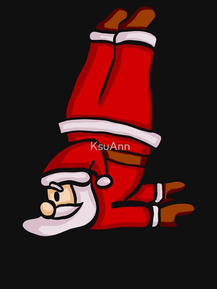 Santa Claus Doing Yoga by KsuAnn