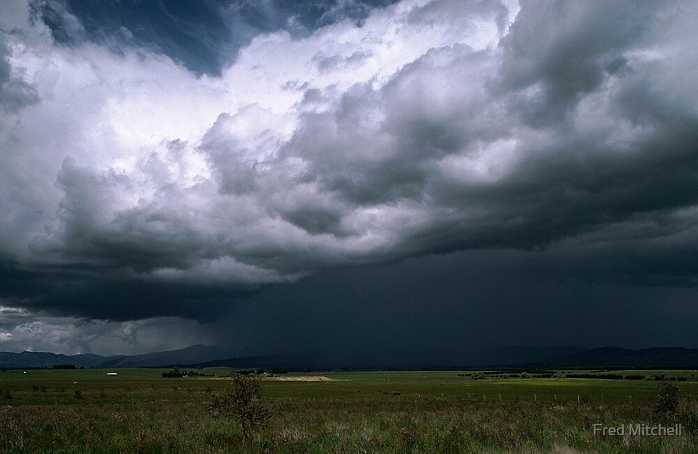 Storm over Mt Buller, Howqua Valley 19871024 0009 by Fred Mitchell