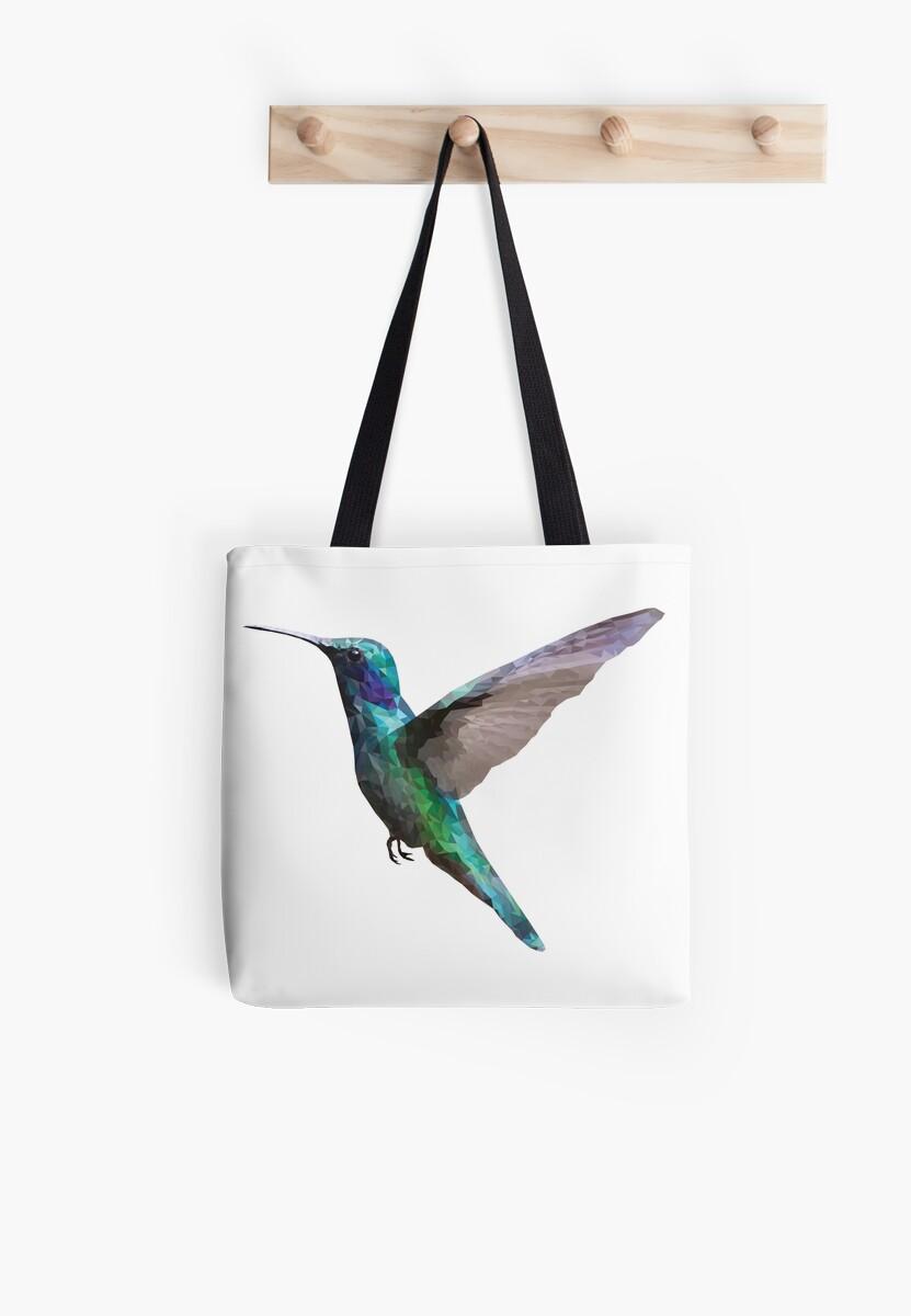 Polygons humming bird by Magda Hanak