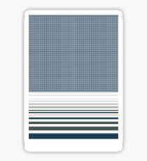 Houndstooth and Geometrical Stripes  Sticker