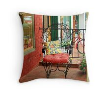 store front porch Throw Pillow