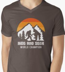 2013ccc9 Retro Hide And Seek World Champion Bigfoot Gift & T-Shirt Men's V-Neck