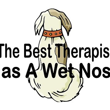 The best therapist has a wet nose with a cute dog by headpossum