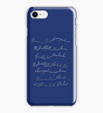 A good man goes to war iPhone Case/Skin
