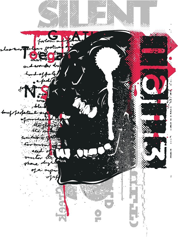 Silent , t shirt graphic  by AHMED AATI