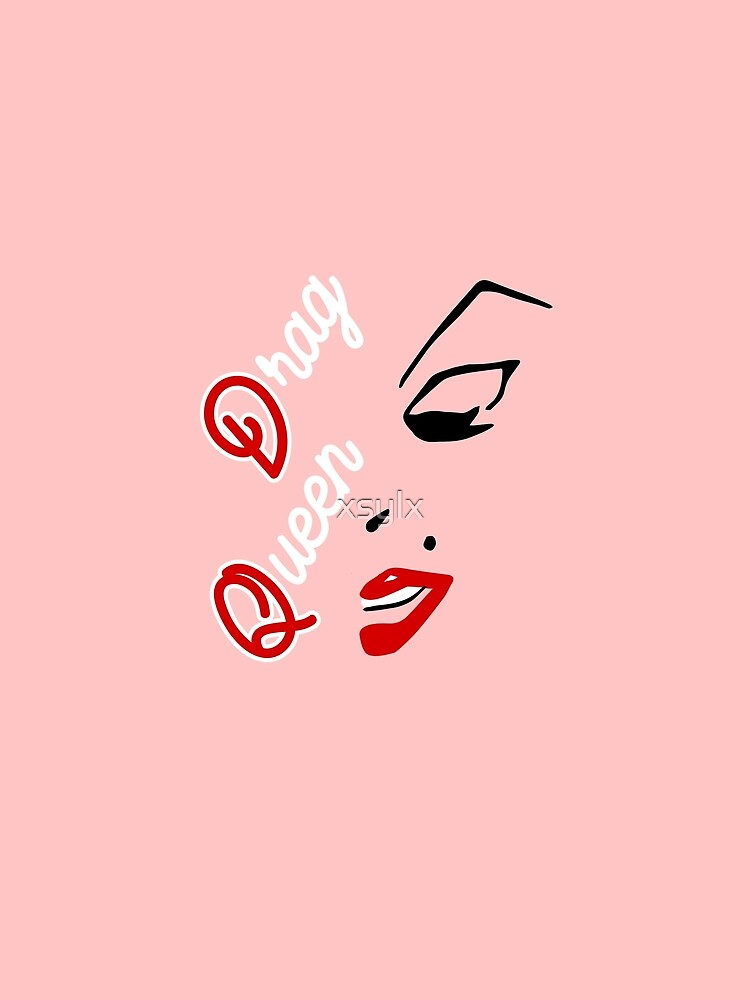 drag queen word with face graphic by xsylx