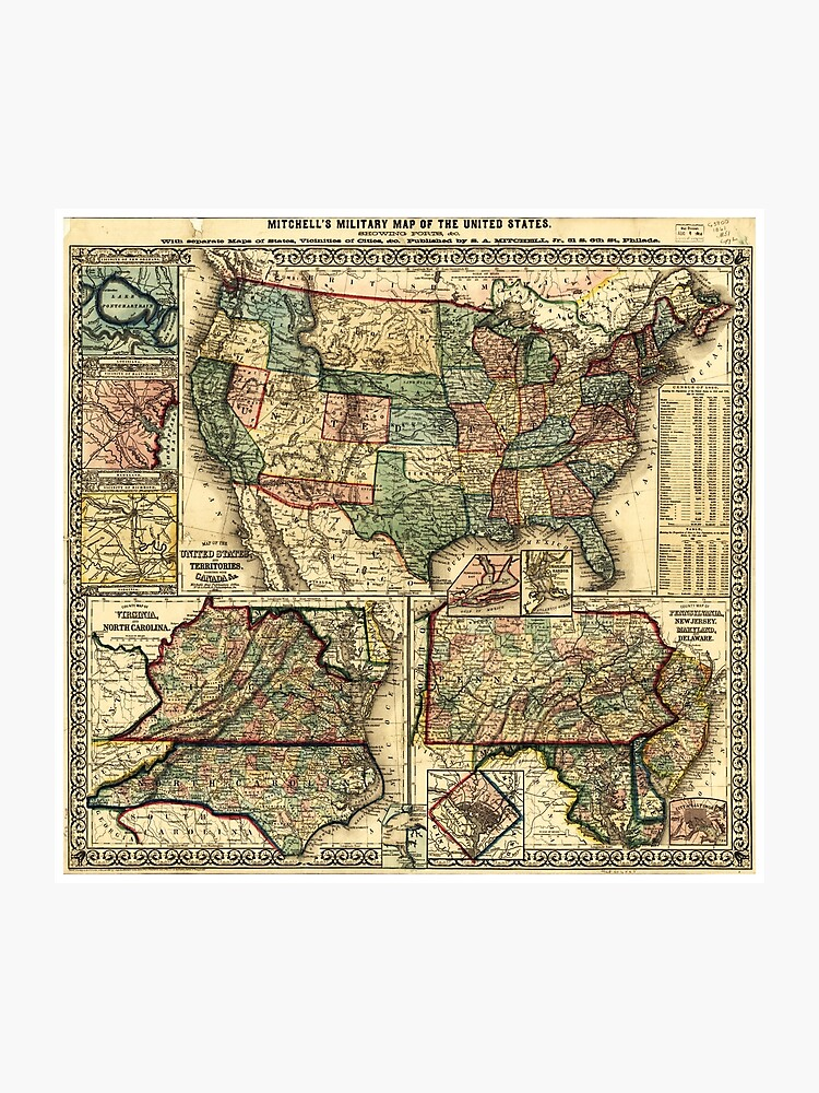 Mitc's Military Map of the United States (1861)