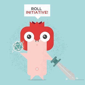 Pomegranate Warrior - Roll Initiative by harugraphic