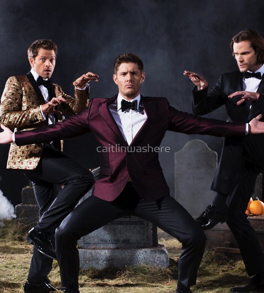 Jensen, Jared and Misha by caitlinwashere