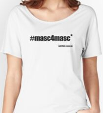 #masc4masc black text - Kylie Relaxed Fit T-Shirt