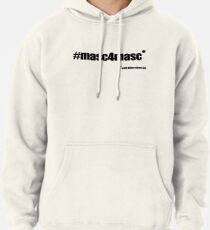 #masc4masc black text - Kylie Pullover Hoodie
