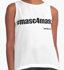 #masc4masc black text - Kylie Contrast Tank