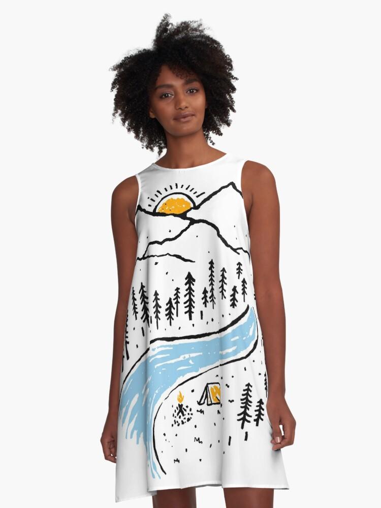 Quiet Place A-Line Dress Front