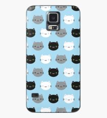 Cute Cats & Kawaii Kittens (Blue) Case/Skin for Samsung Galaxy