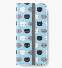 Cute Cats & Kawaii Kittens (Blue) iPhone Wallet/Case/Skin