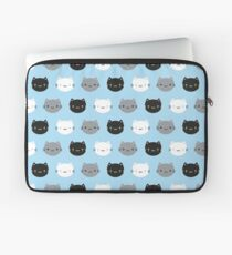 Cute Cats & Kawaii Kittens (Blue) Laptop Sleeve