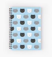 Cute Cats & Kawaii Kittens (Blue) Spiral Notebook