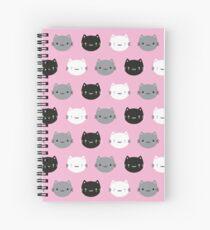 Cute Cats & Kawaii Kittens (Pink) Spiral Notebook
