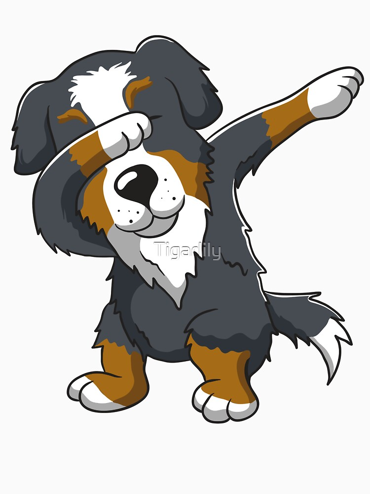 Bernese Mountain Dog Dab Dabbing by Tigarlily
