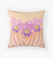 ZEBRA ORCHID Throw Pillow