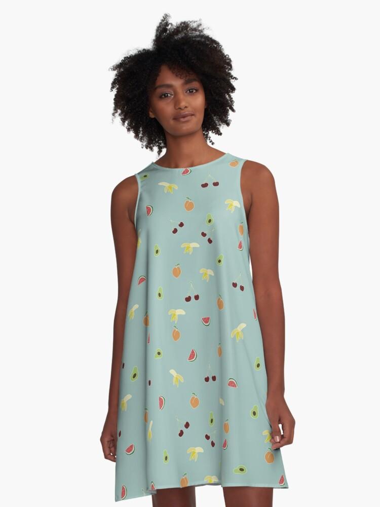 Summer fruits A-Line Dress Front