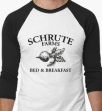 Schrute Farms - Bed and Breakfast - Logo - The Office Men's Baseball ¾ T-Shirt