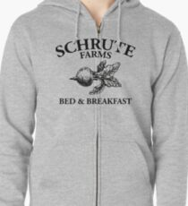 Schrute Farms - Bed and Breakfast - Logo - The Office Zipped Hoodie