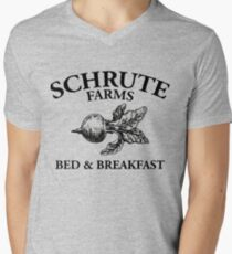 Schrute Farms - Bed and Breakfast - Logo - The Office Men's V-Neck T-Shirt