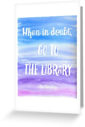 When in doubt go to the library by Winston Casco