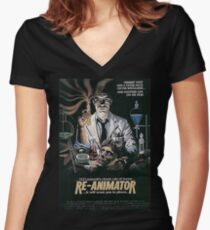 Re-Animator Women's Fitted V-Neck T-Shirt